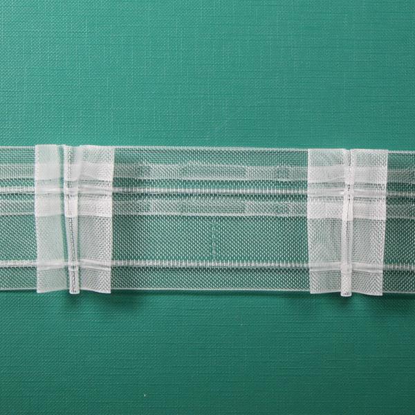 Тесьма   3  складки   50мм —    1:2                арт.  20408